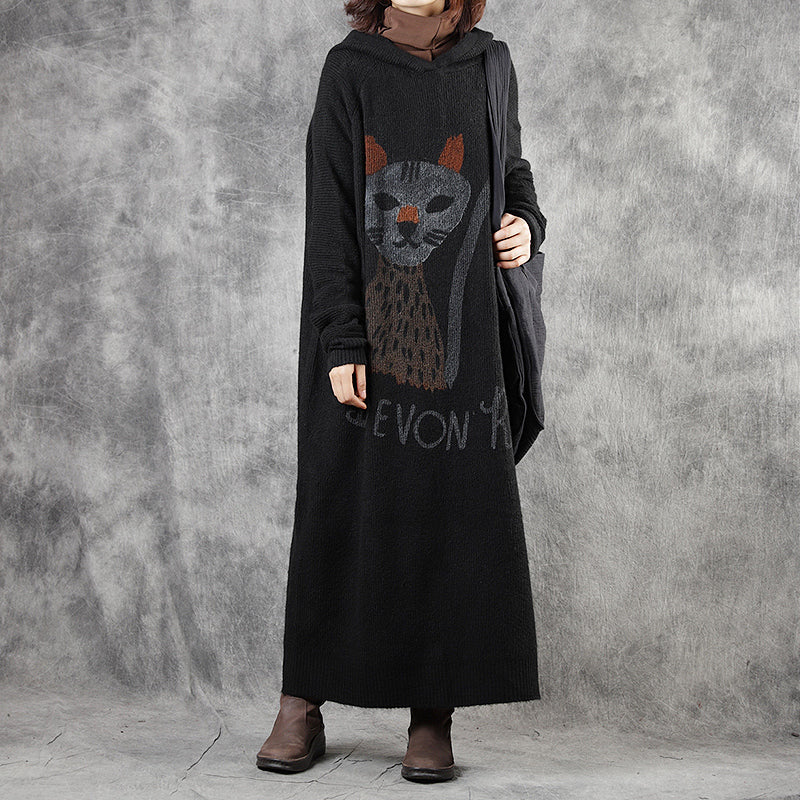Cute Cartoon Animal Loose Knit Dress