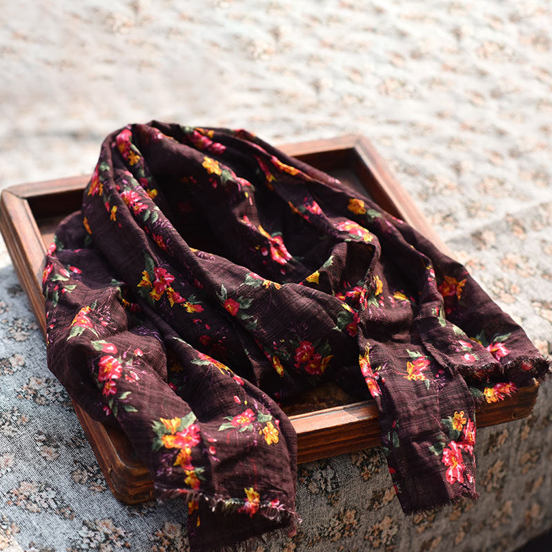 Retro Women Autumn Printed Scarf
