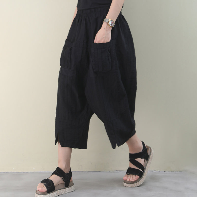 Summer Elastic Waist Women Loose Pants