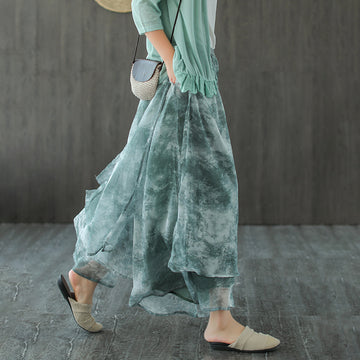 Prints Summer Loose Elastic Waist Pants