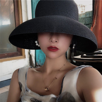 Women Wide Brim Summer Sun Protect Hat