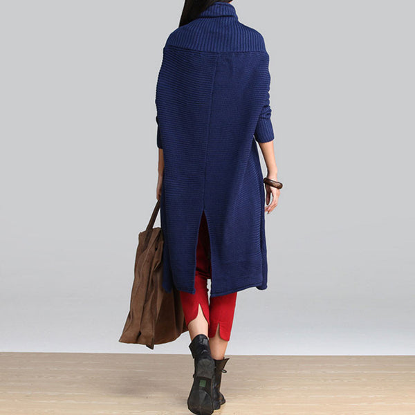 Wool High Necked Loose Sweater