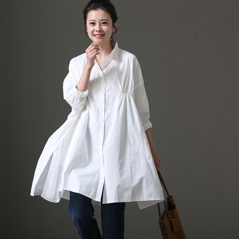 Casual Loose Three Quarter Sleeve Cotton Shirt