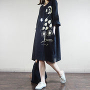Animal Pattern Casual Loose Summer Dress