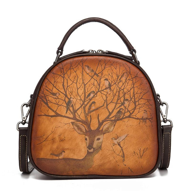 Animal Print Retro Women Shell Bag