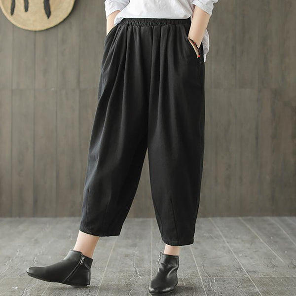 Cotton Casual Loose Ankle Harem Pants