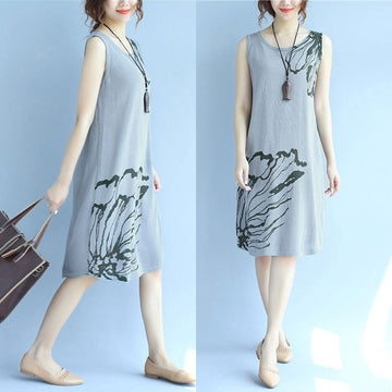 Women Retro Casual Slim Slip Dress - Buykud