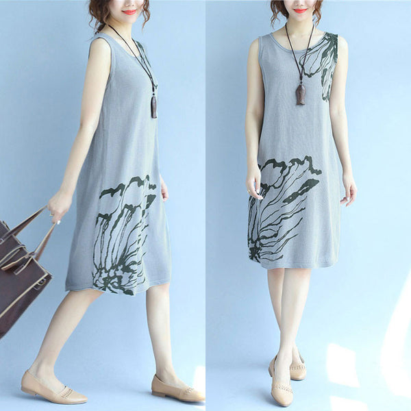 Women Retro Casual Slim Slip Dress