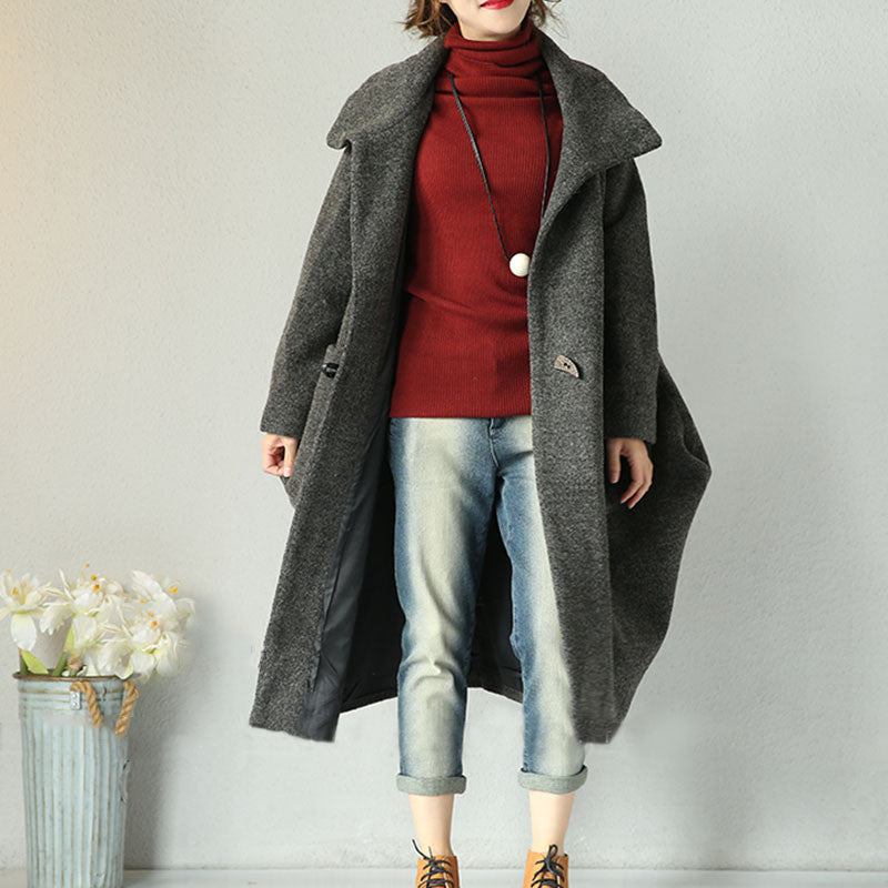 Gray Wool Loose Jacket