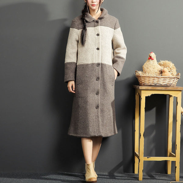 Color Matching Loose Apricot Overcoat