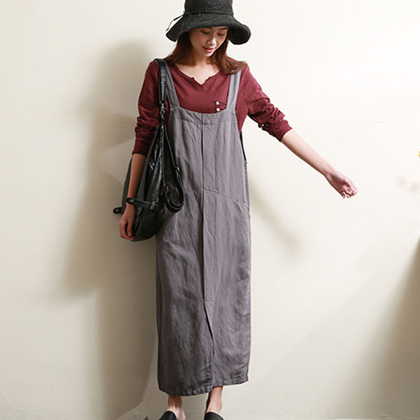 Casual Loose Women Linen Cotton Overalls