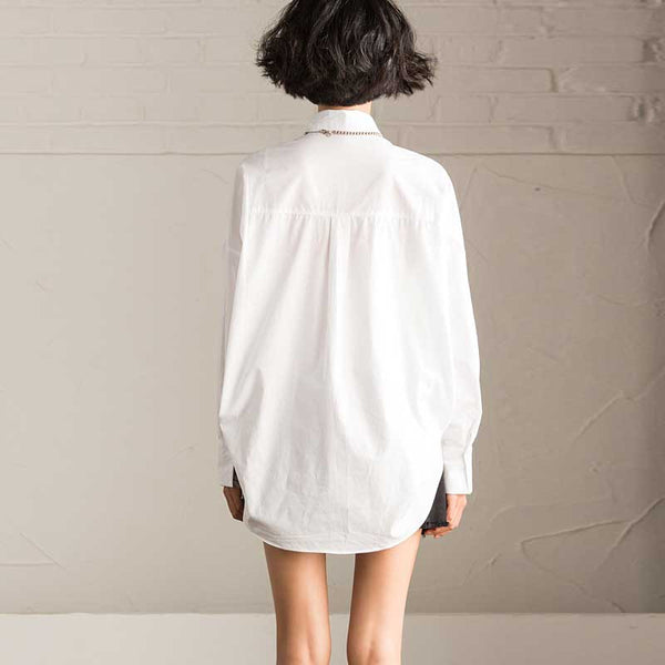 Spring Long Sleeve White Shirt