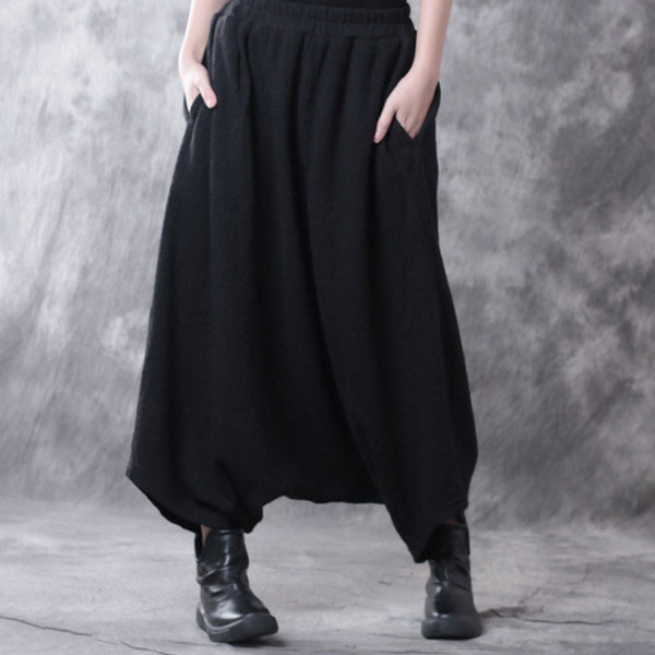 Loose Casual Drop-crotch Pants - Buykud