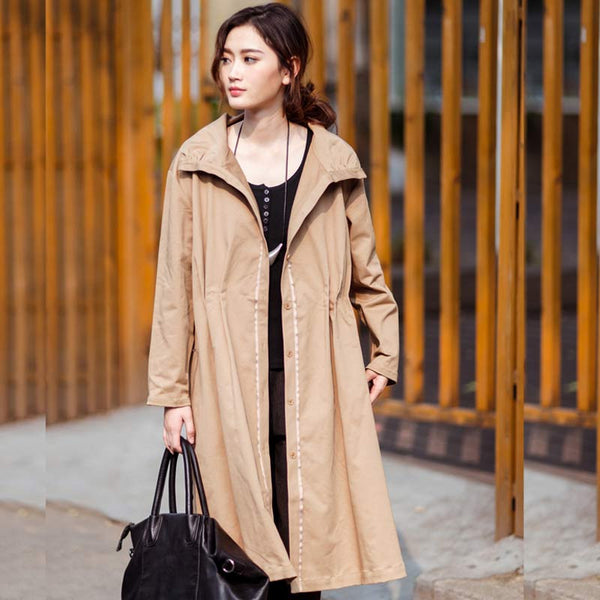 Casual Cotton Pleated Jacket