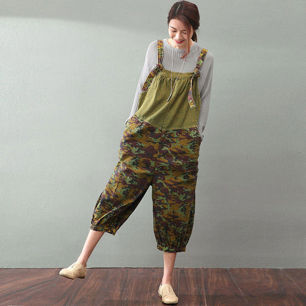 Printing Women  Loose Overalls pants
