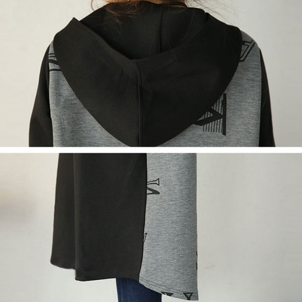 Loose Cotton Hooded Jacket