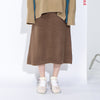 Wool Elastic Waist Women Winter Skirt