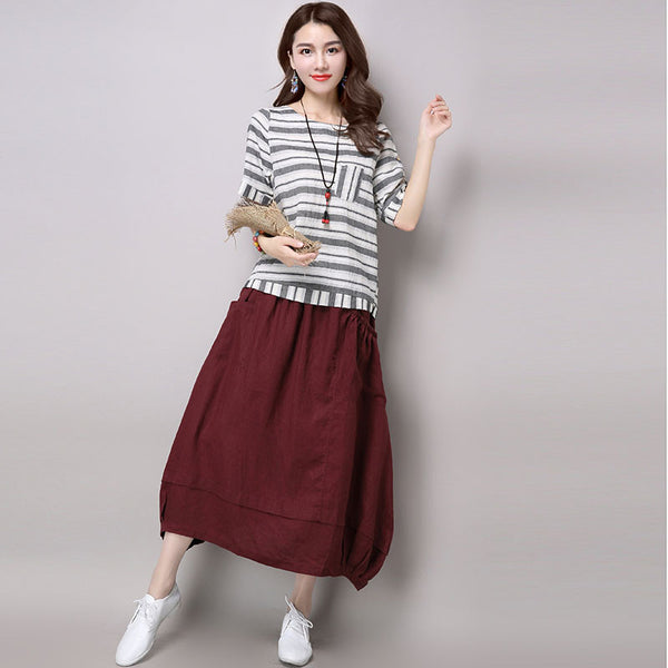 Loose Casual Women Skirt - Buykud