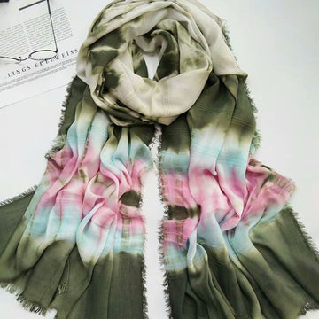 Women Prints Shawl Tassel Summer Scarf