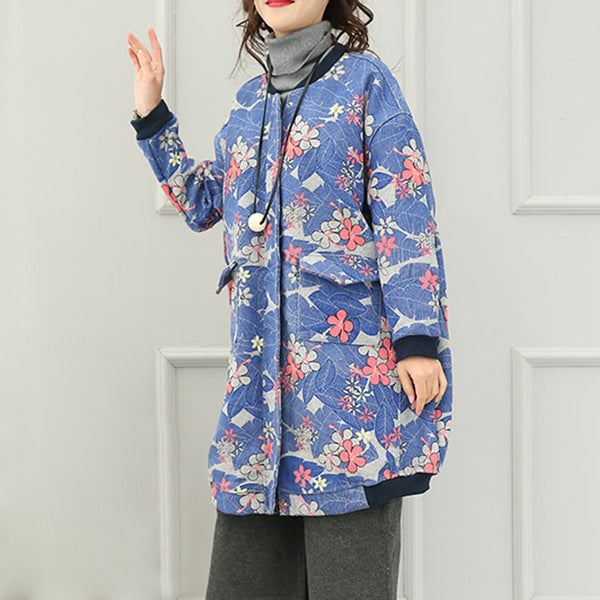 Loose Printed Jacket Coat