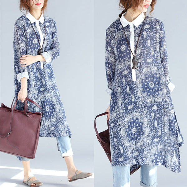 Loose Linen Irregular Long Dress