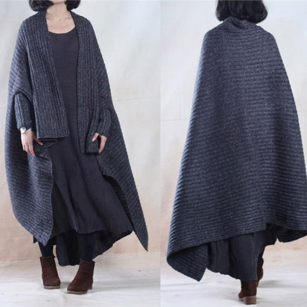 Women Casual Loose Woolen Autumn Coat - Buykud