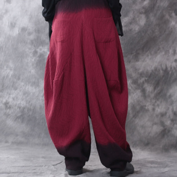 Casual Linen Loose Gradient Pants - Buykud