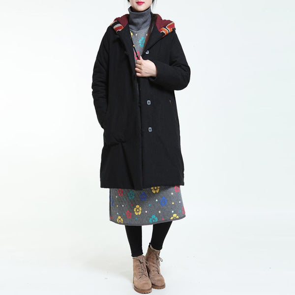 Printing Hooded Large Size Coat