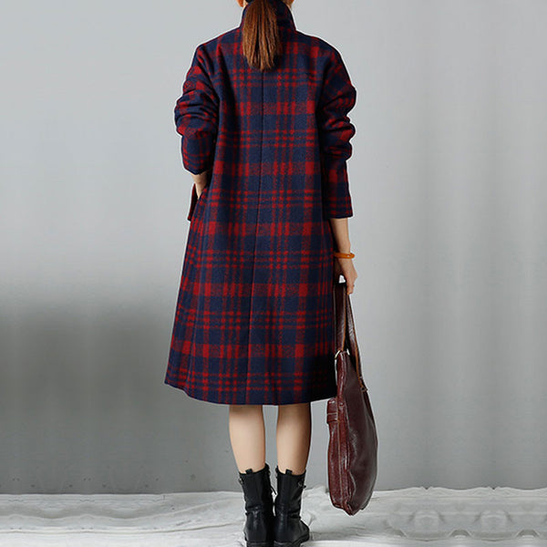 Women Woolen Winter Long Sleeve Large Size Coat