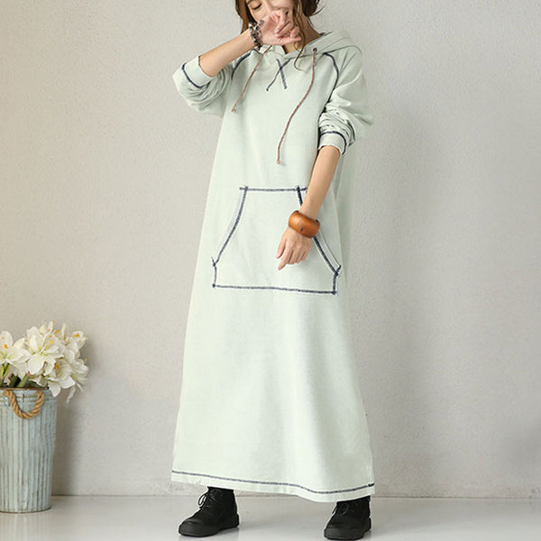 Women Casual Loose Autumn Long Sleeve Dress