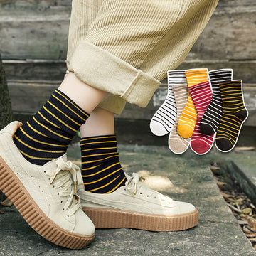 Stripe Cotton Autumn Women Socks