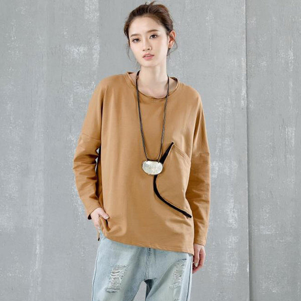 Casual Pocket Cotton Long Sleeve Shirt