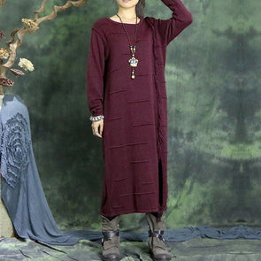 Knitted Loose Dress - Buykud