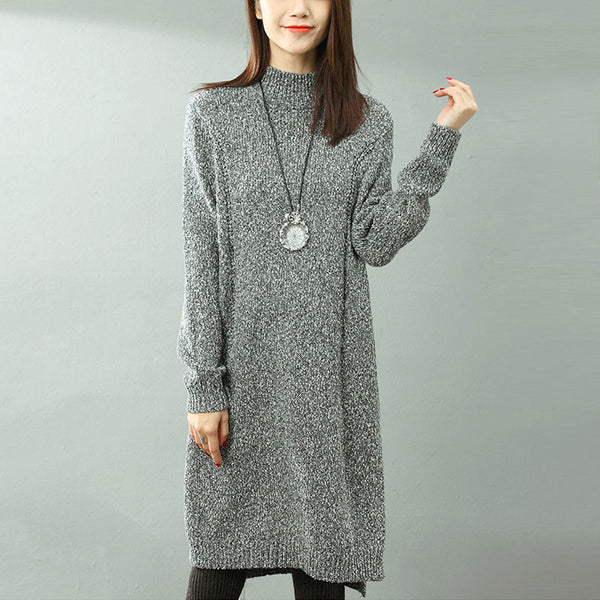 Pullover Dull Gray Long Sweater