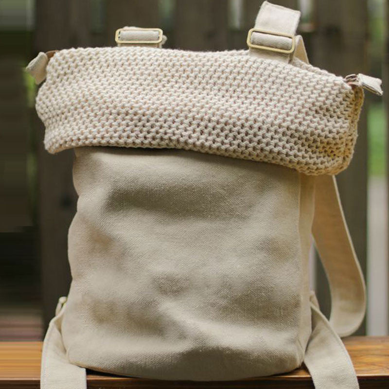 Casual Cotton Linen Backpack - Buykud