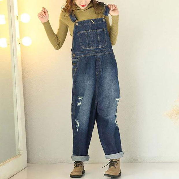 Autumn Casual Loose Cotton Jumpsuits pants - Buykud