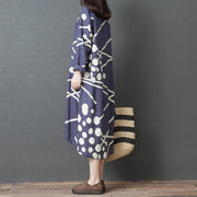 Abstract Printed Round Neck Dress