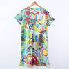 V Neck Printing Summer Women Short Sleeves Dress - Buykud
