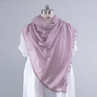 Literature Chic Hollowed Versatile Women Multicolor Scarf - Buykud