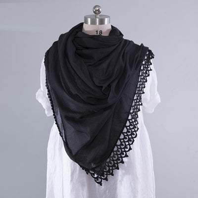 Sweety Hollowed Versatile Women Multicolor Scarf - Buykud
