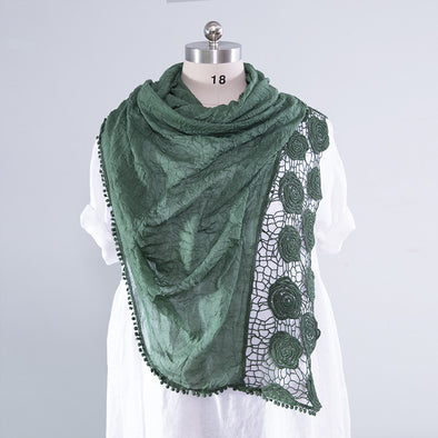 Elegant Cotton Hollowed Versatile Women Scarf - Buykud