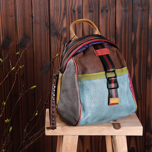 Fashion Vintage Multicolored Backpack