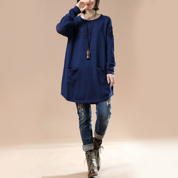 Autumn Loose Round Neck Long Sleeve Sweater