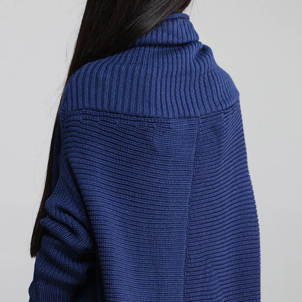 High Necked Loose Sweater