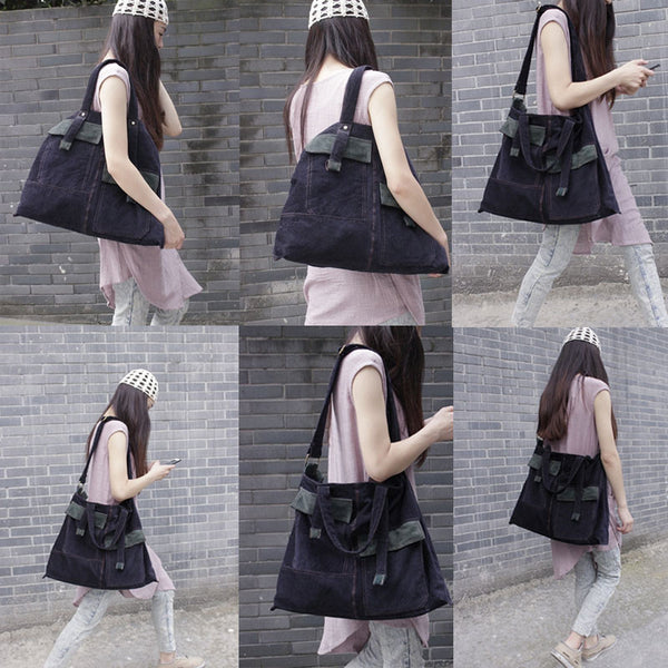 Navy Blue Casual Bag Hand Shoulder
