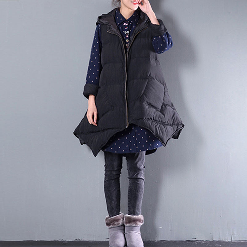 Irregular Loose Hooded Jacket