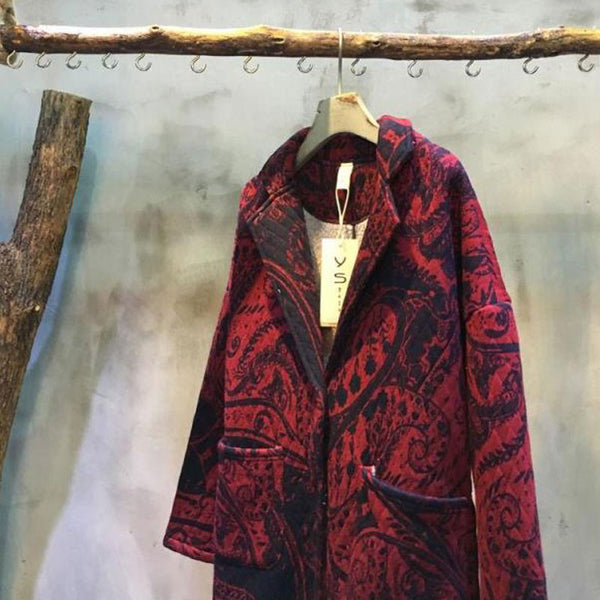 Loose Print Retro Jacket