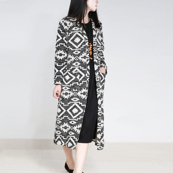 Retro Woolen Ladies Cardigan Coat - Buykud