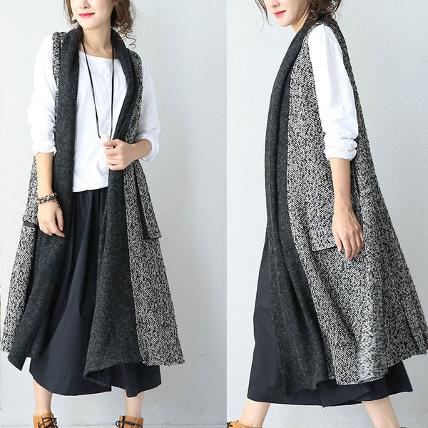 Wool Stitching Cardigan Jacket