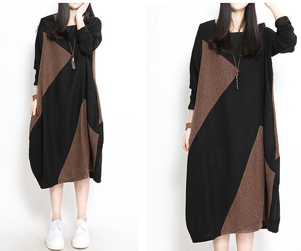 Women cotton loose fitting dress - Buykud